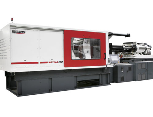 Arriving May/June 2015 New 580 Ton 2 Shot Wide Platen Cincinnati Milacron Molding Machine
