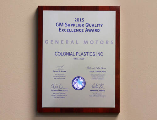 Colonial Plastics Earns GM's Highest Award For Supplier Quality