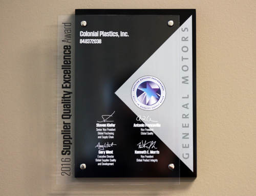 Colonial Plastics Earns GM's Highest Award For Supplier Quality 2 Years In A Row